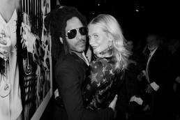 Poppy Delevingne and Lenny Kravitz at the Dom Pérignon Assemblage Exhibition